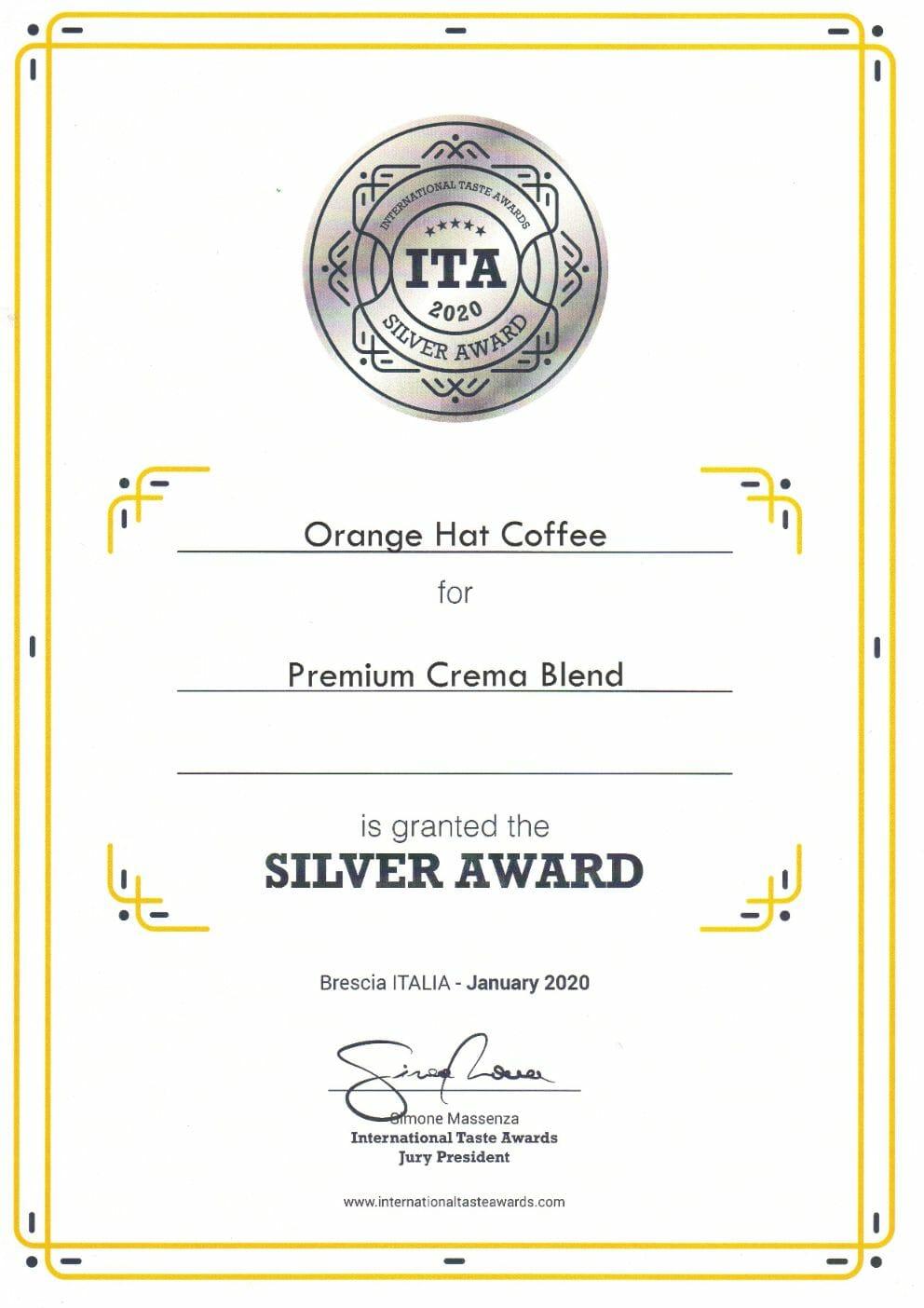 Orange Hat Coffee - International Taste Awards 2020 abalvošanas pasākumā! 9