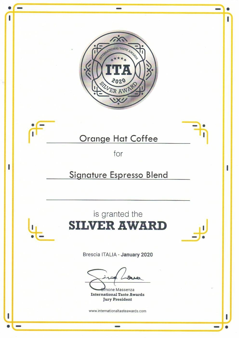 Orange Hat Coffee - International Taste Awards 2020 abalvošanas pasākumā! 7