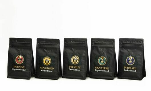 5 kafiju komplekts